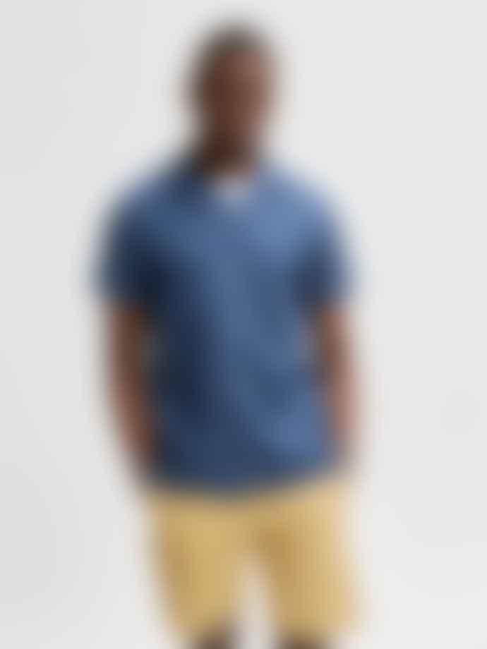 Selected Homme Soft Cuban Shirt Blue