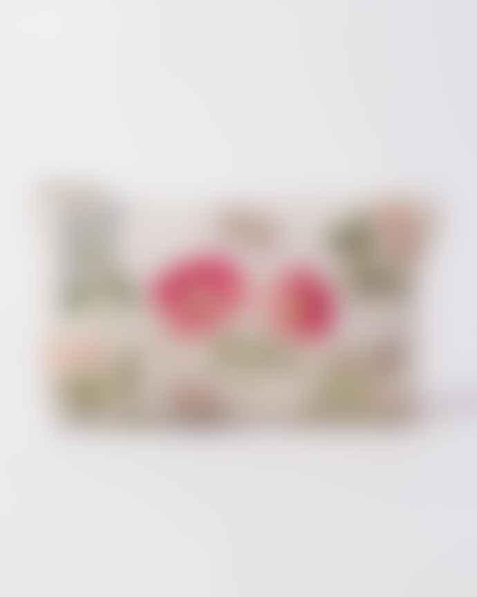 Elizabeth Scarlett British Blooms Cream Cotton Pouch