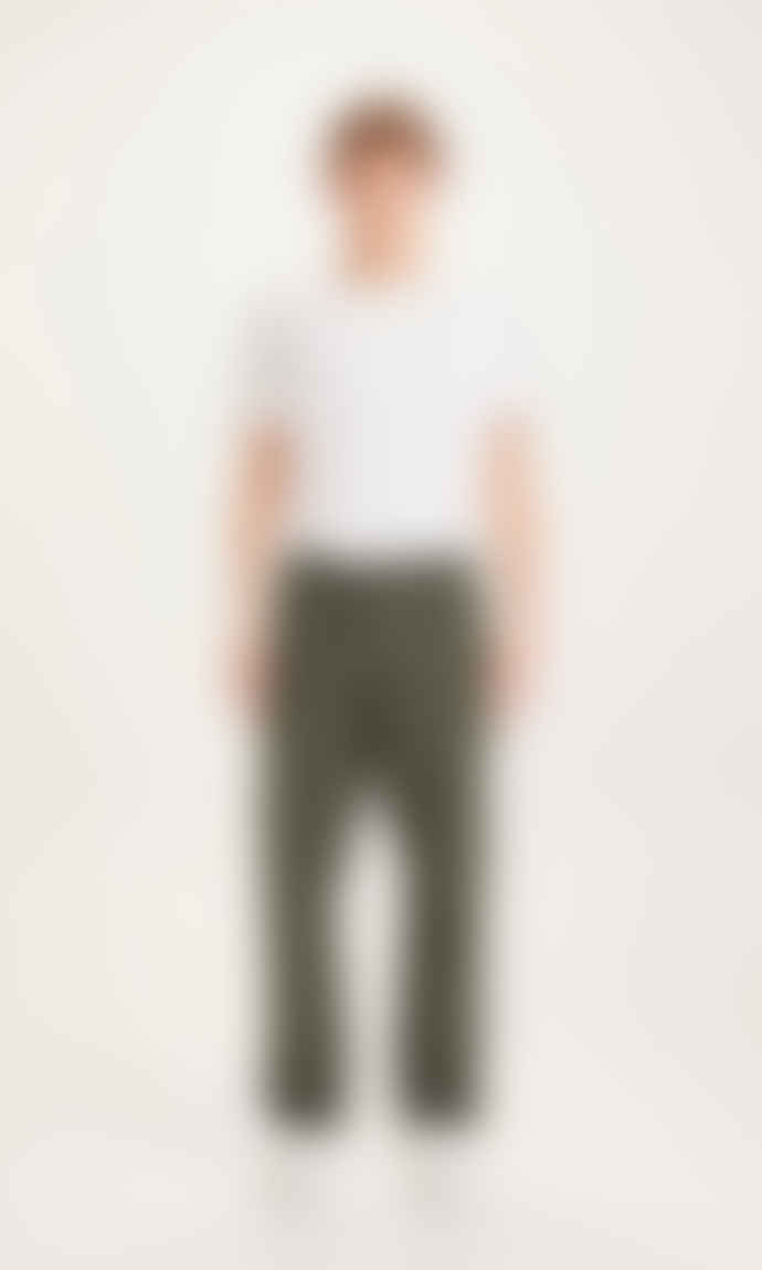 Knowledge Cotton Apparel  FIG Loose Rib-Stop Pant - Forrest Night