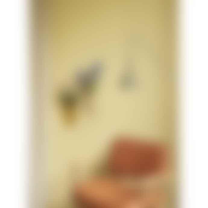 Hubsch Vase En Verre Mural Jaune