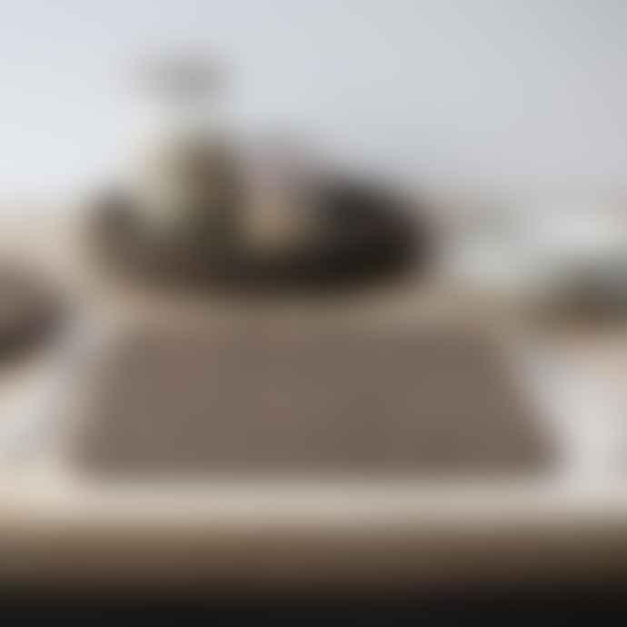 LIGA Rectangle Cork Placemat Set Smoked