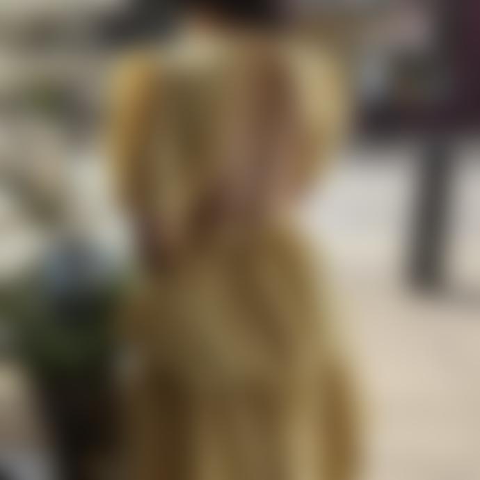 Sister Jane Deuce Floral Tiered Midi Dress Yellow Iris