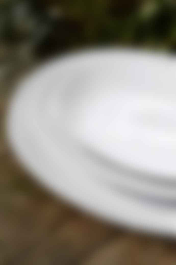 COSTA NOVA Pearl White Oval Platter Large