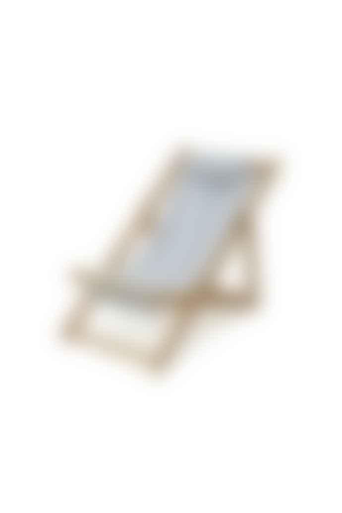 BUSINESS AND PLEASURE Mini Sling Chair Vintage Blue Stripe