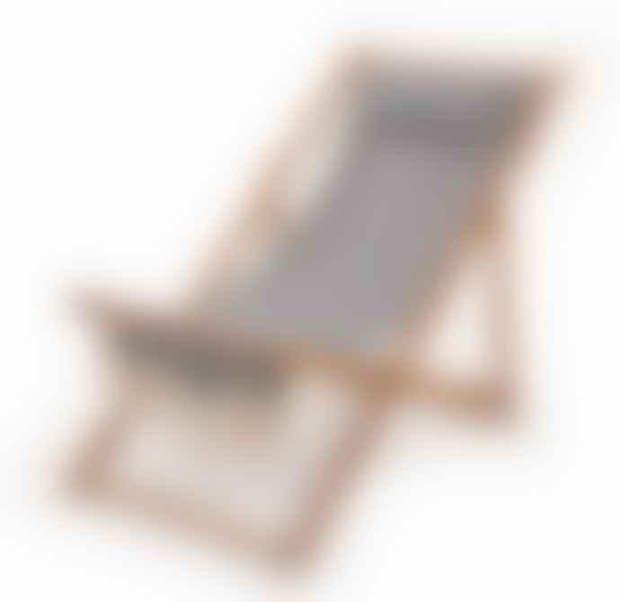 BUSINESS AND PLEASURE Sling Chair Laurens Navy Stripe