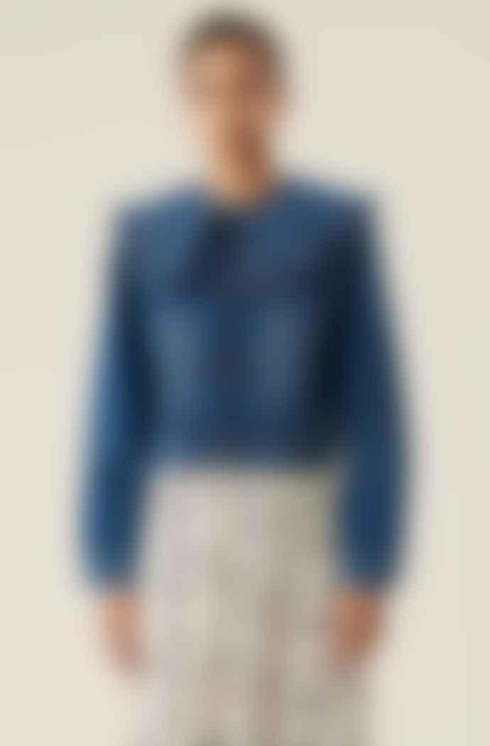 Ganni Cotton Denim Jacket