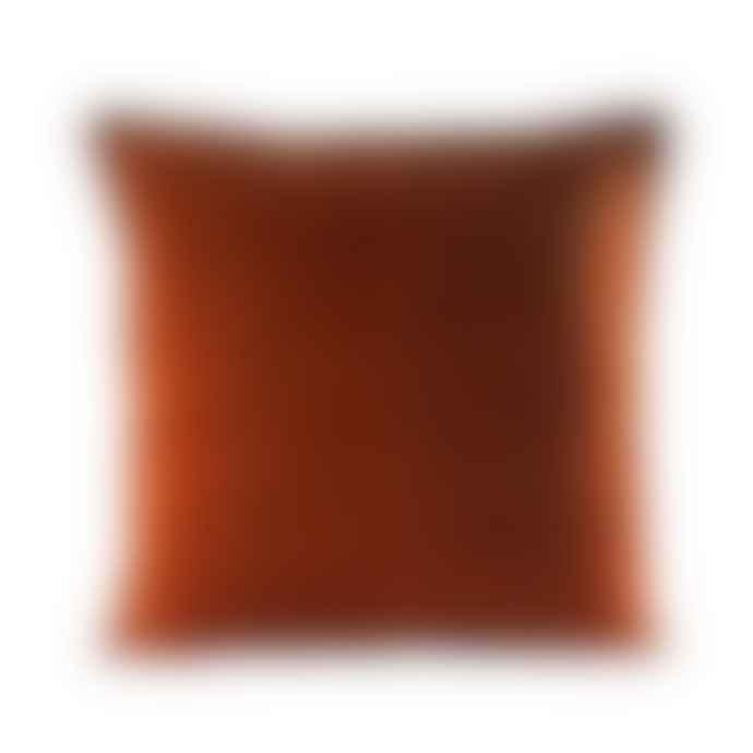 Ceannis Dark Cognac Velvet Cushion