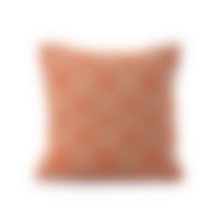 Ceannis Embroidered Striped Cushion Orange