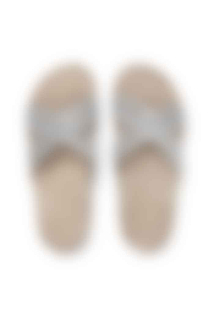 Shangies White Stripe Sandals