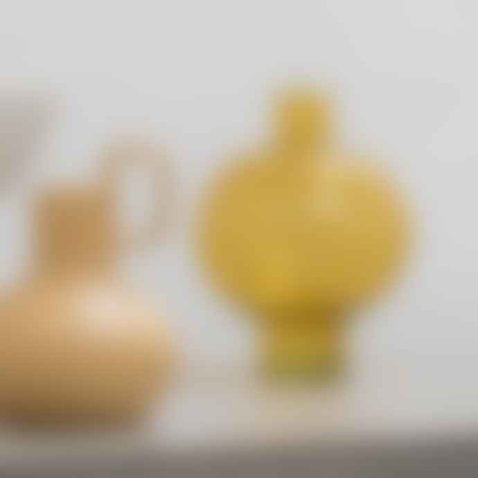 Urban Nature Culture Yellow Recycled Glass Vase