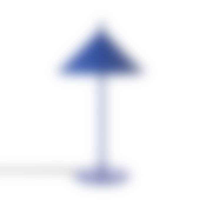 HKliving Metal Triangle Table Lamp Matt Cobalt Medium