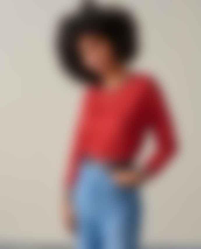 Bellerose Senia Linen Red Dahlia T Shirt
