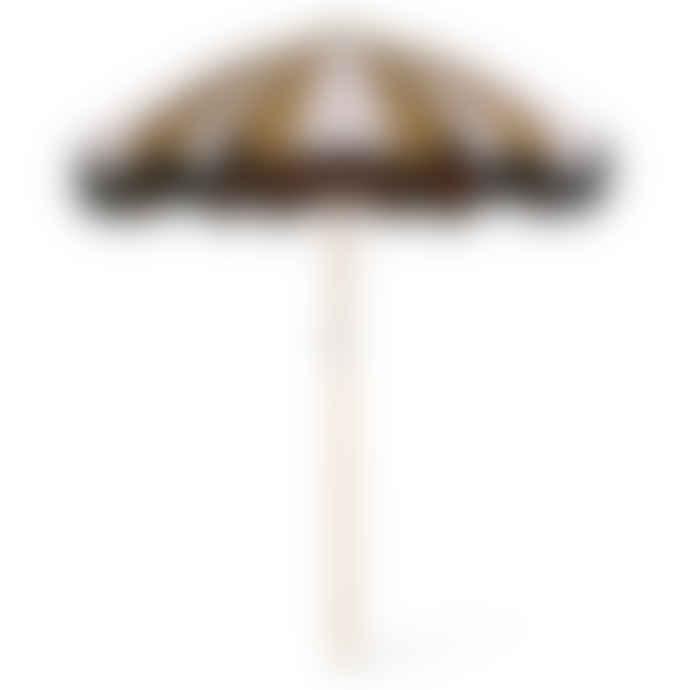 HKliving Classic Nude Mustard Beach Umbrella