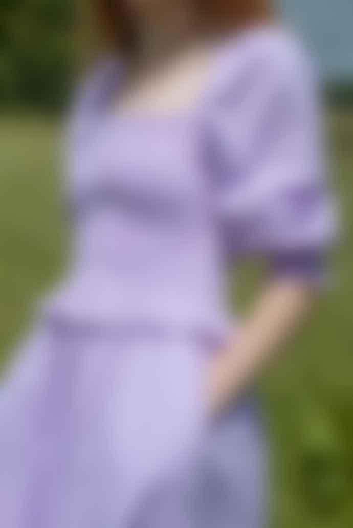 Ilk & Ernie Freya Gingham Dress In Lilac
