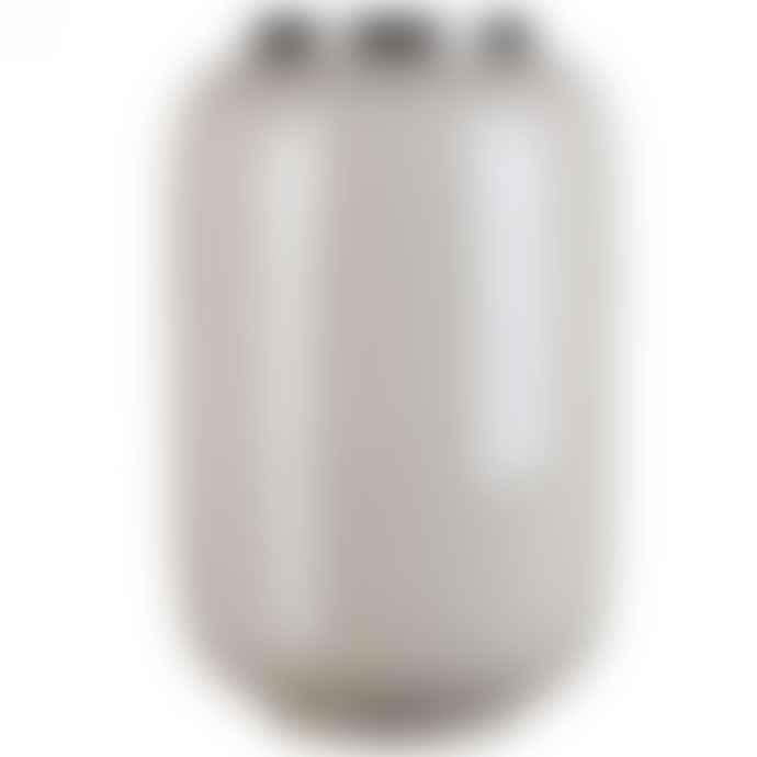 Gift Company Saigon Vase L Sandstone Silberfarben