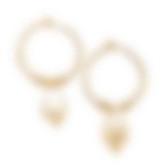 Ibu Jewels Grace Earrings Pearl Hoop