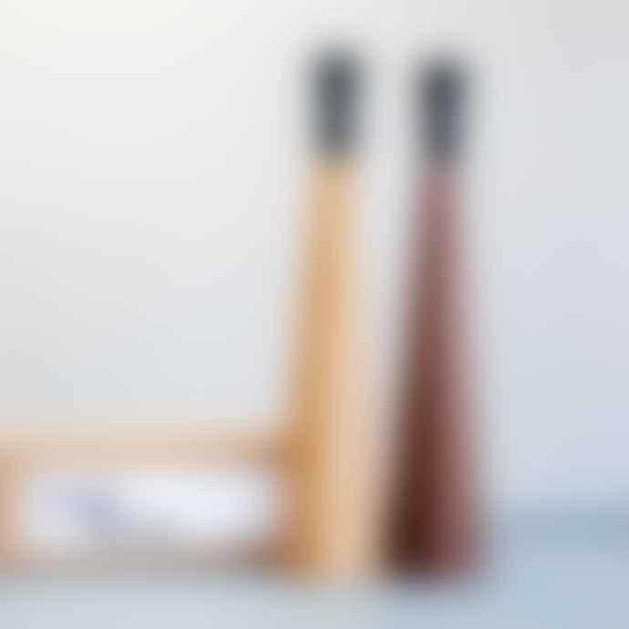 Nick James Handmade Walnut Table Lamp Base - 35cm