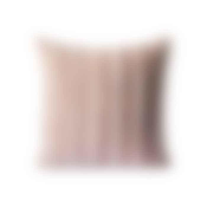 HKliving Striped Velvet Cushion Beige 45 X 45 cm