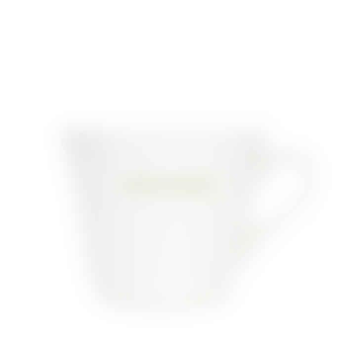 Make International Medium White Standard Bucket Mug with Green Good Morning Text