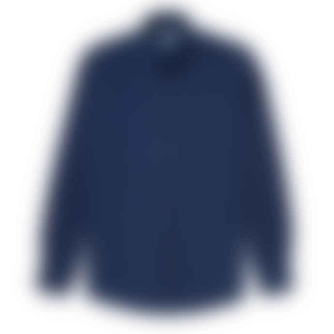Sunspel Soft Twill Button Down Shirt Indigo S