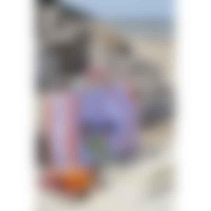 HAY Cabas Candy Stripe Orange Et Bleu M