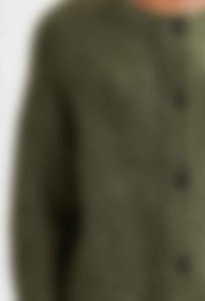 Selected Femme Lulu Ls Knit Short Cardigan Kalamata Melange