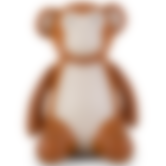 Zuny Tan & Wheat Monkey Bookend - Synthetic Leather