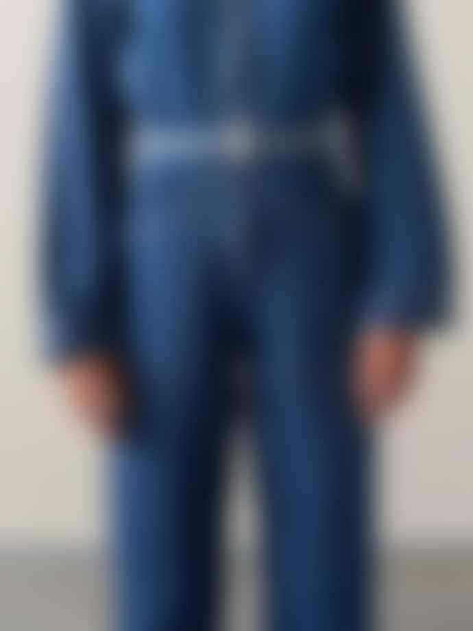 Bellerose Shiba Belt In Blue Stripe