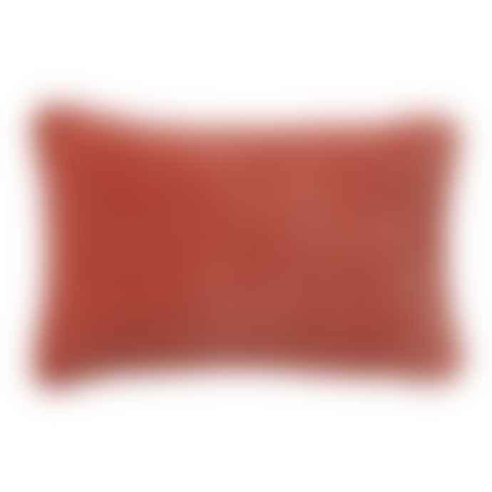 Bungalow DK Cushion Cover 30x50 Velvet Terracotta