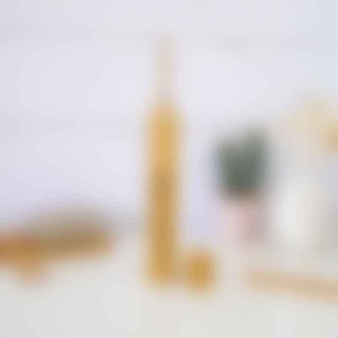 Battle Green Bamboo Toothbrush Travel Case