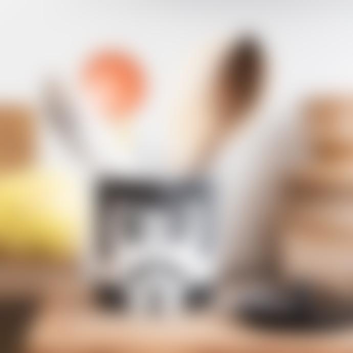 Kitsch Kitchen Carlos B+W Storage Jar
