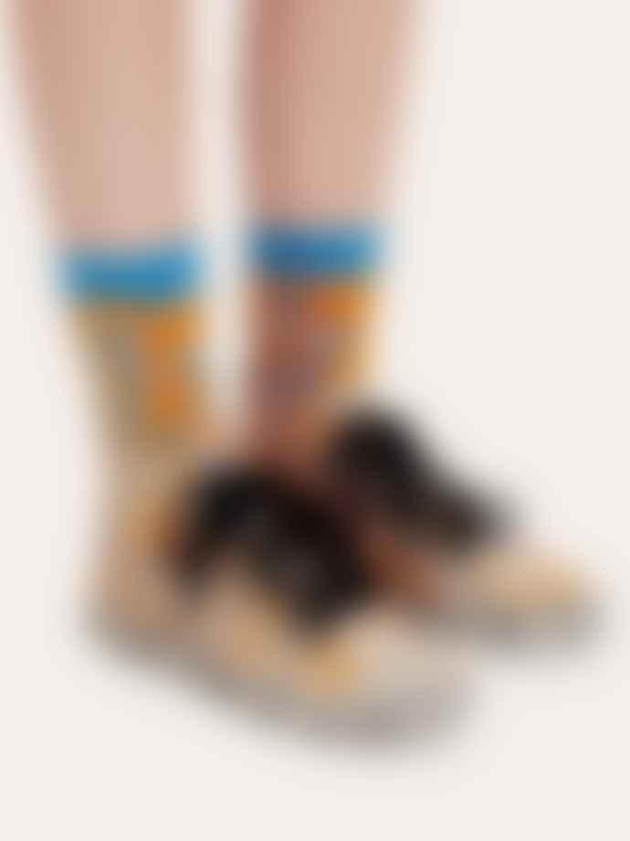 Stine Goya Caty Socks Orange Leaf