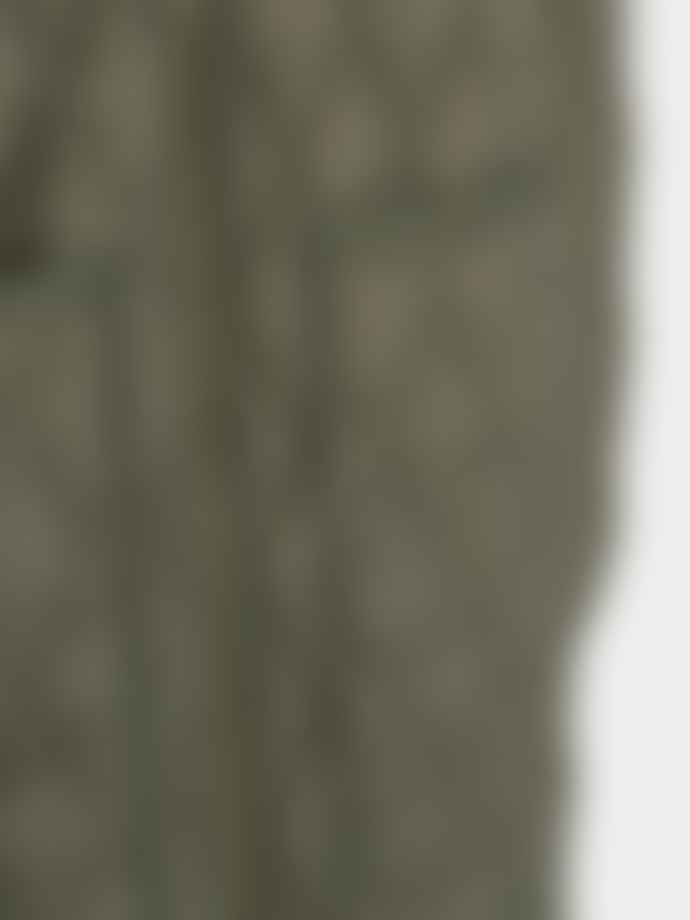 SOFIE SCHNOOR Quilted Long Jacket Dark Green