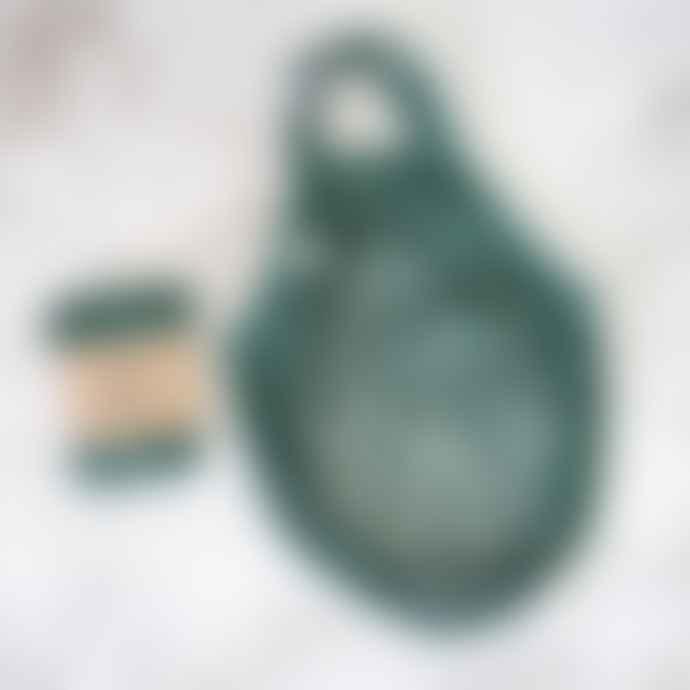 Battle Green Short Handle String Shopping Bag