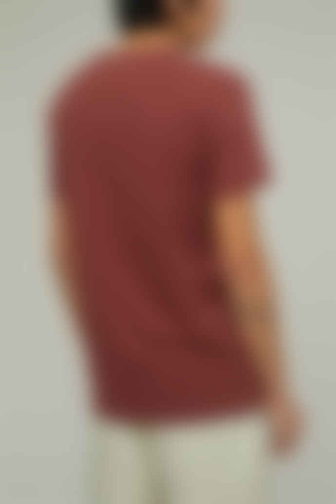 CLOSED T-Shirt Jersey Col Rond - Coton Organique - Red Plum