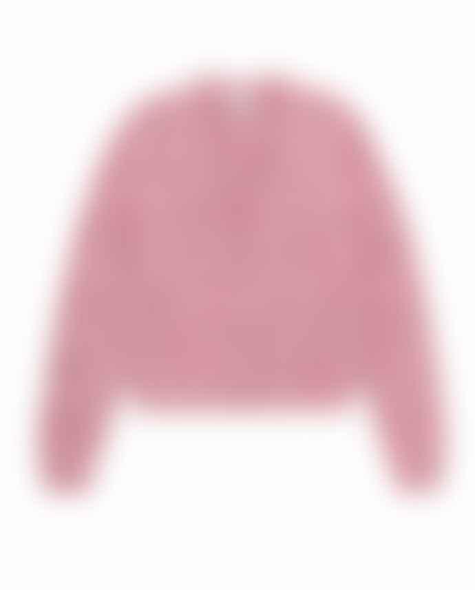 Ganni Chunky Glitter Knit Cardigan Pink