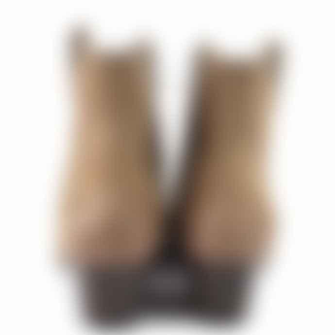 Essentiel Antwerp Suede Brown Ash Houston Ankle Boots