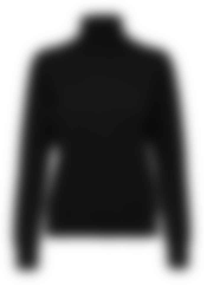 Selected Femme Long Sleeve Roll Neck Top Black