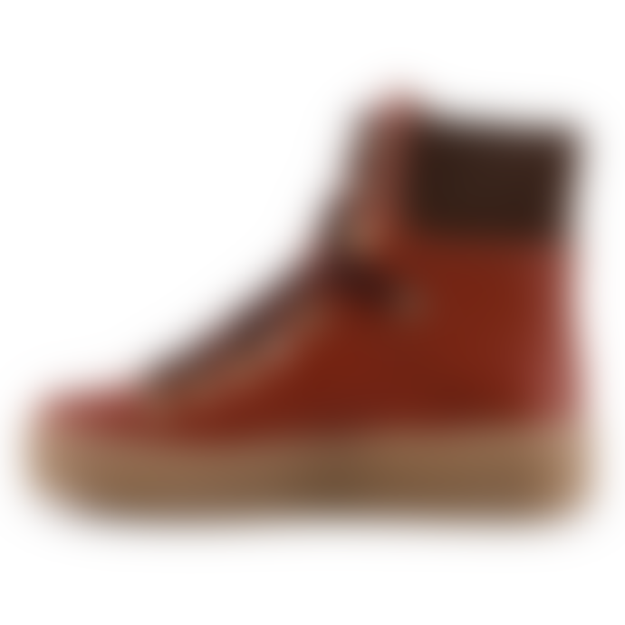 Shoe The Bear Agda Red Brown Hiking Boot