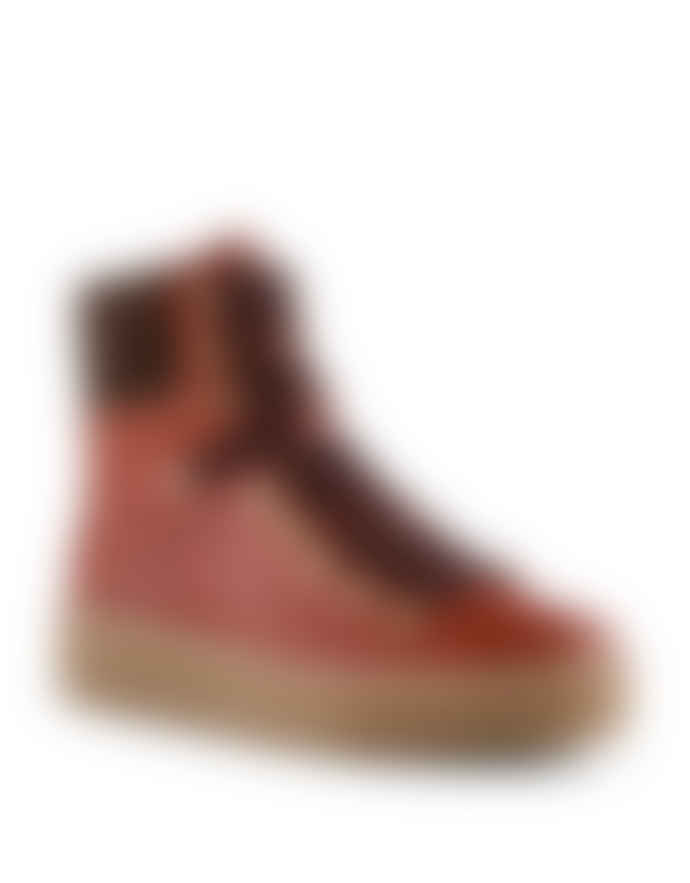 Shoe The Bear Agda Boots Red Brown