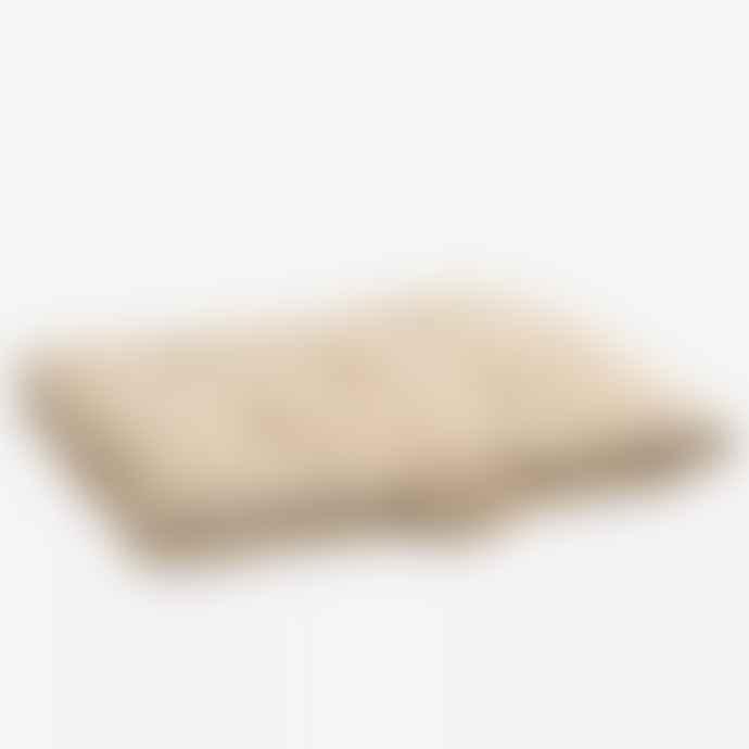 Madam Stoltz Striped Cotton Mattress - Off White, Dark Honey
