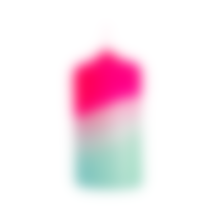Pink Stories Dip Dye Neon Peppermint Tower Candle