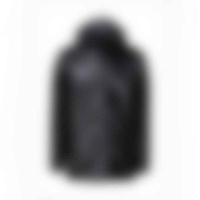 Rains Jacket Short Shiny Black