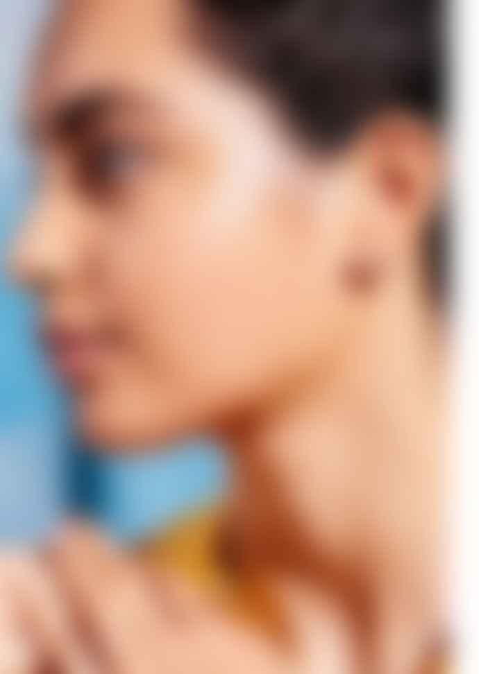 Estella Bartlett  Pave Set Organic Circle Stud Earrings
