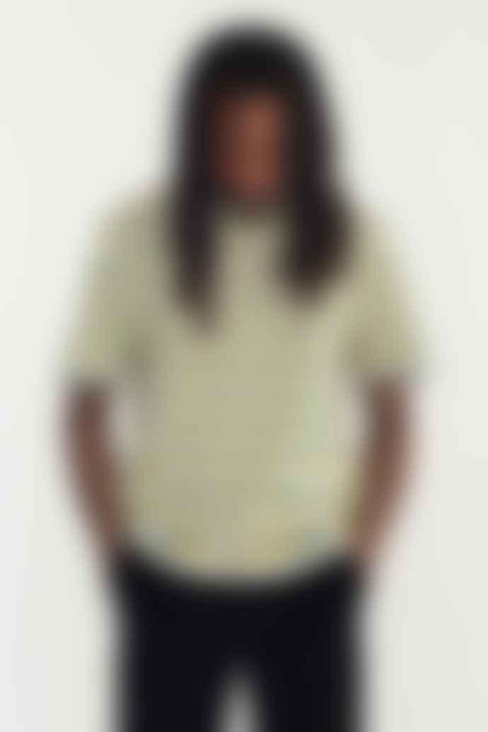 Wax London Dean Grey Green Yellow Linton Strip T Shirt