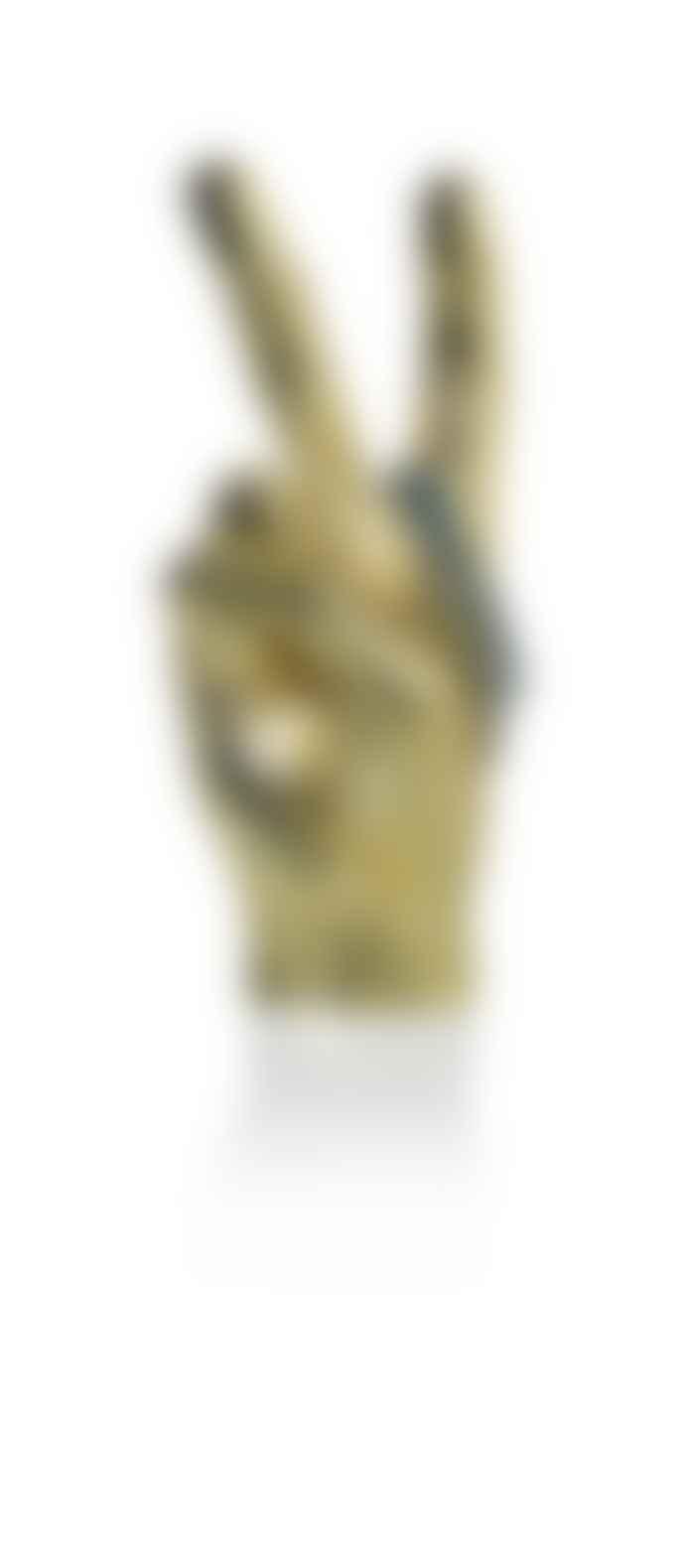 Bitten Design Gold Peace Hand Sculpture