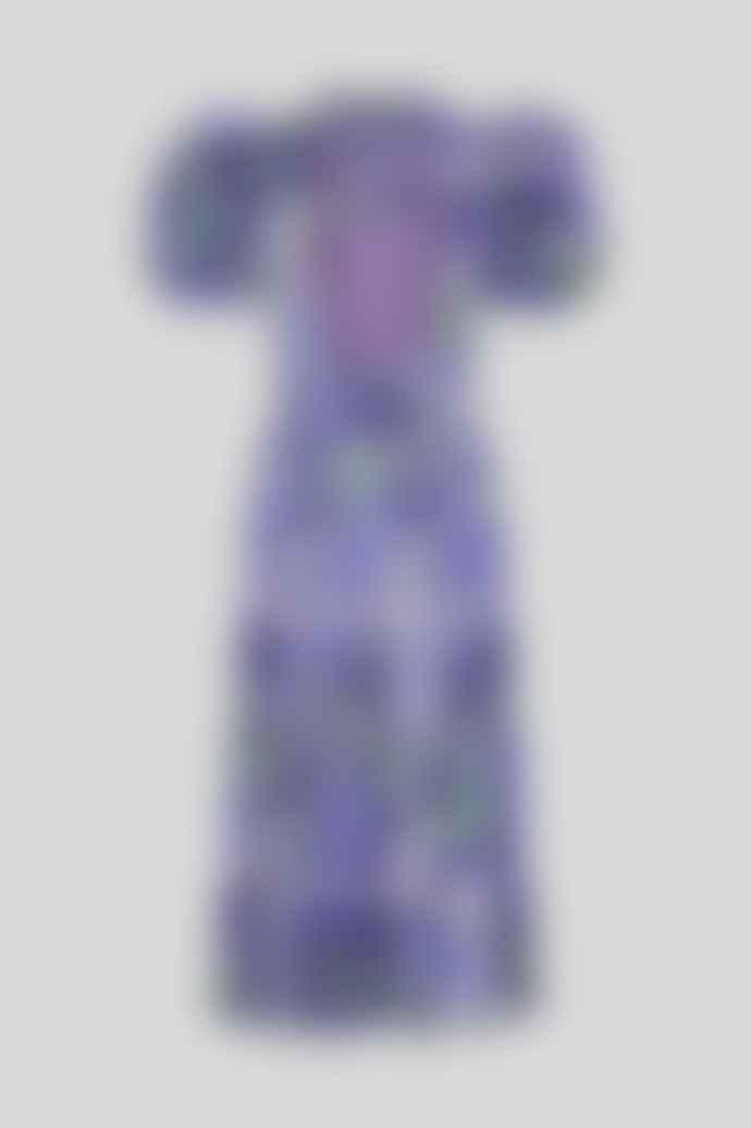 ROTATE Birger Christensen Dawn Dress Baja Blue