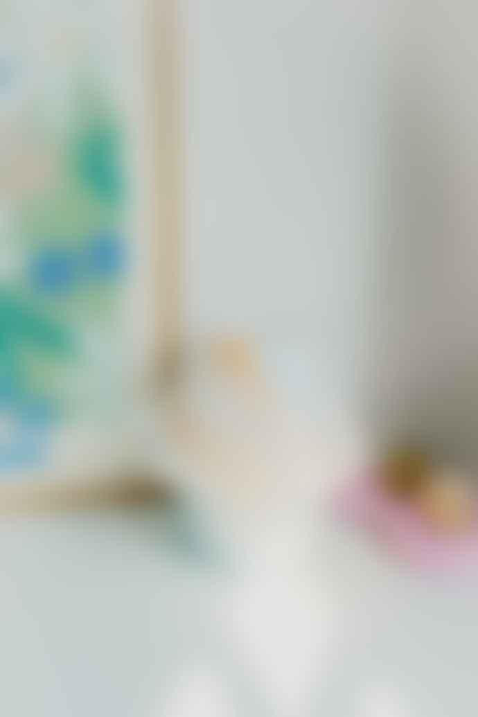 Ajouter Lucia Multicoloured Murano 70 S Style Mushroom Stripe Glass Table Lamp