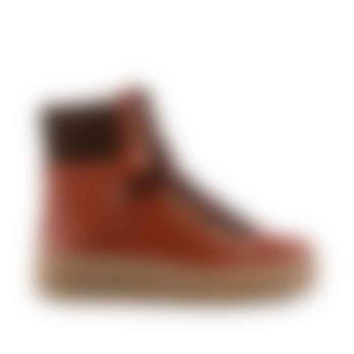 Shoe The Bear Agda Boot In Red Brown Leather