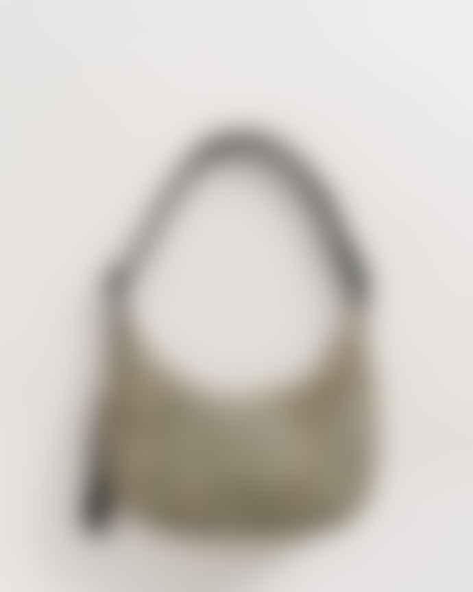 Baggu Medium Nylon Crescent Bag Honey Leopard